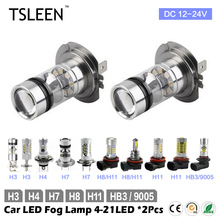 2x CREE LED Bulbs Car Kit H3 H4 H7 H11 HB3 White Headlight Replace Xenon Lamp(China (Mainland))