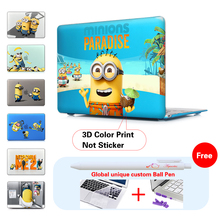 Popular Minions sun sand buddies Case For Apple macbook Air Pro Retina 11 12 13 15 inch laptop bag For Mac book 11.6 13.3 15.4