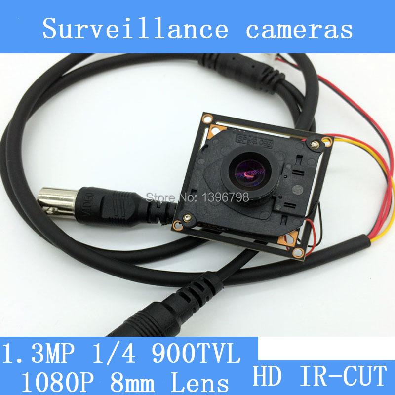 HD 1.3MP Color mini 900TVL 8mm Lens Analog High Definition Surveillance Camera Module Security indoor IR night vision<br><br>Aliexpress