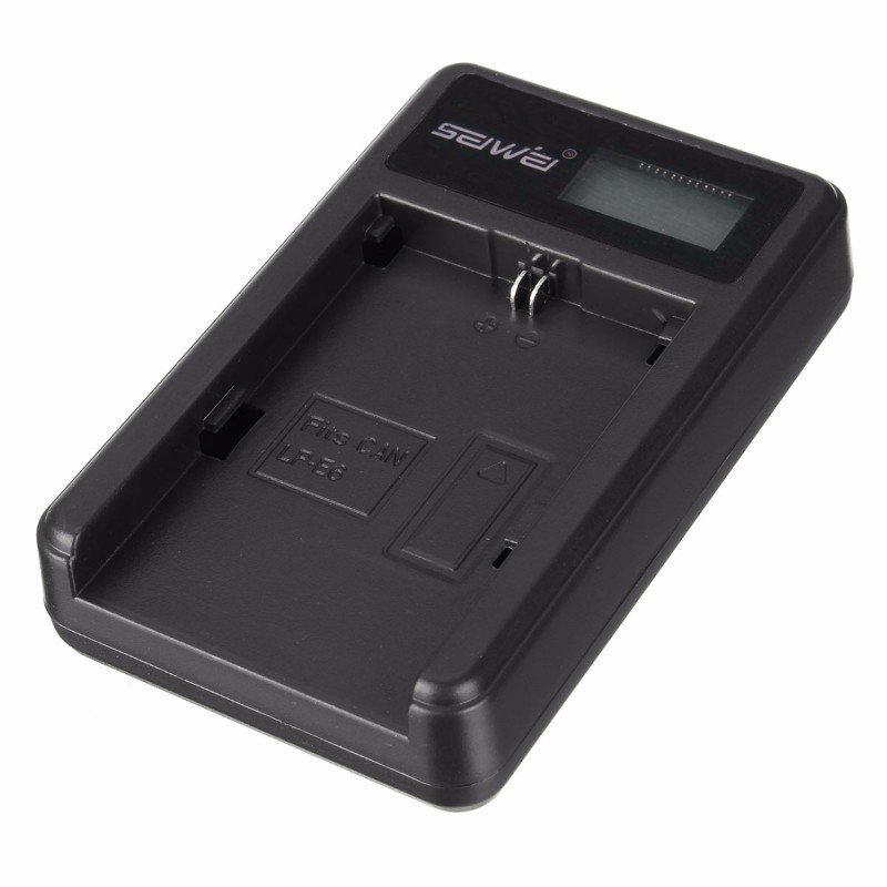 LP-E6 Li-ion Battery Pack Charger For Canon Digital Camera Power Wall Travel Quick LCD Display Chargers with USB Cable(China (Mainland))