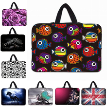 Buy Laptop Sleeve Bag Neoprene Carry Cases Cover Bag 7 10 12 13 14 15 17 inch Notebook Computer + Hide Handle Wholesale Retail for $6.75 in AliExpress store