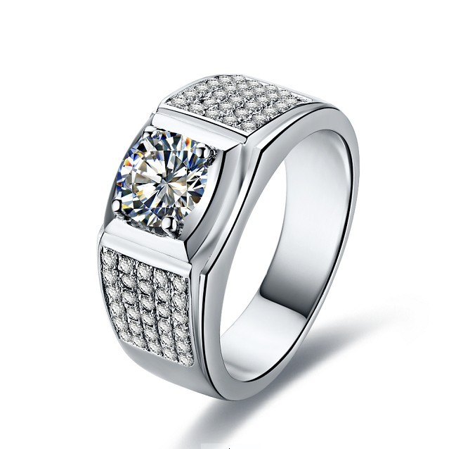 Trendy engagement ring for young Silver diamond ring designs