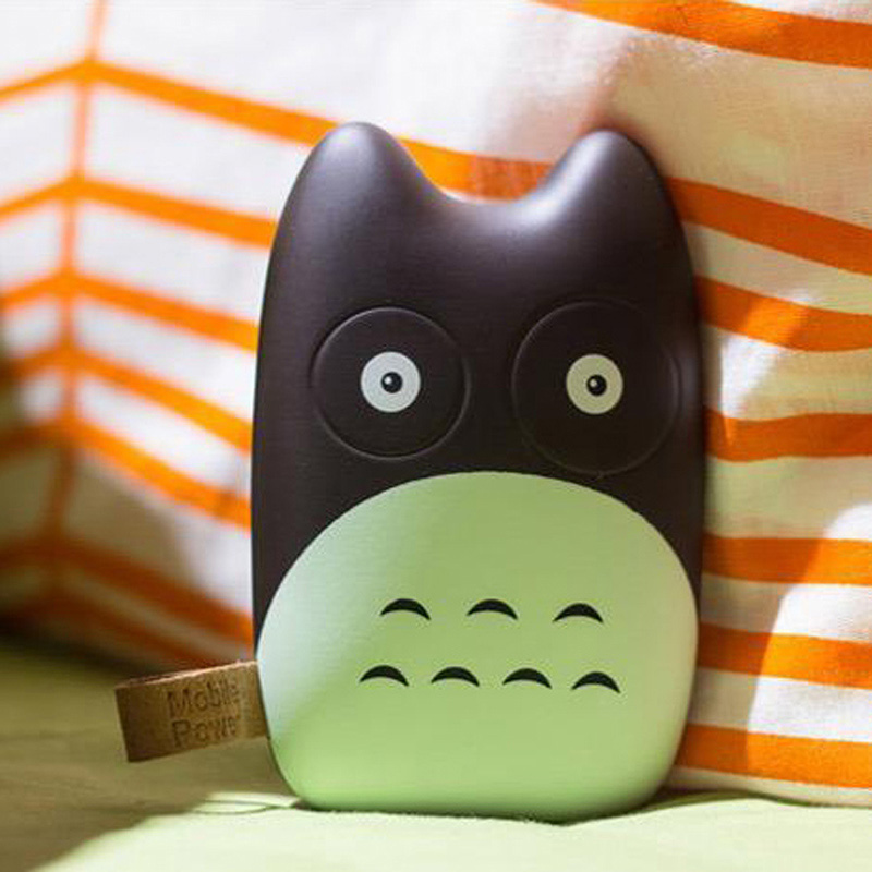 Fashional Cute Totoro Mobile Power Bank Real 8000mah Portale Charger External Battery Pack for iphone 5 6 Note Galaxy(China (Mainland))