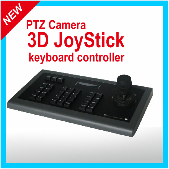 PTZ 3D Keyboard controller &High Speed dome keyboard &Control Vehicle Hikvision RS485: 2 pin line, RS232: DB9 connector(China (Mainland))