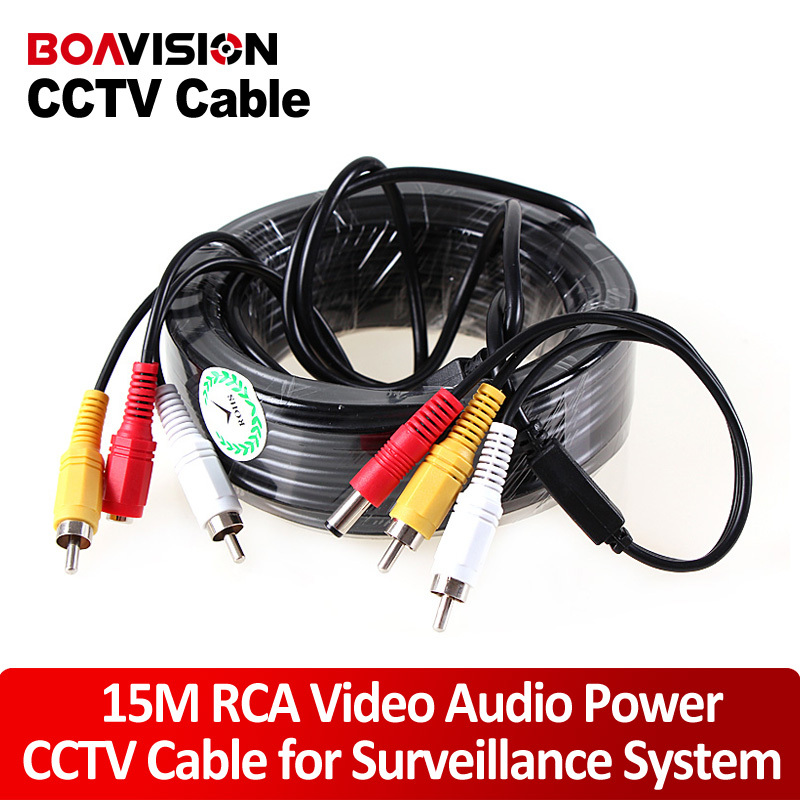 Security 15m CCTV Coaxial Cable AV Power Audio CCTV Camera Cable(China (Mainland))