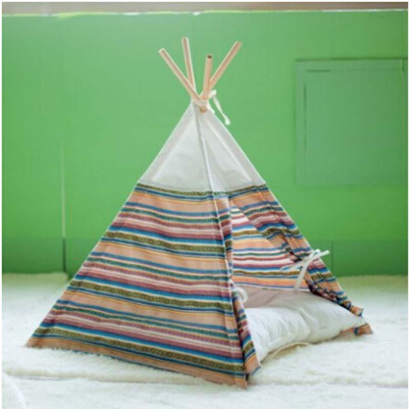 Kennel dog nest pet tent teddy bichon vip playhouse dog for Dog tipi diy