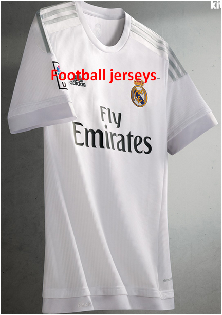 2015-2016 newest football jerseys Real Madrid home tshirt round neck for men , pas cher soccer tshirt homme madird(China (Mainland))