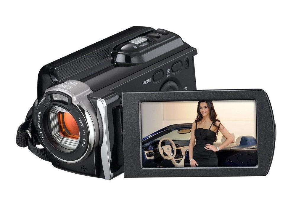 "free shipping Digital Video Camera 1080P Full HD Camcorder 16X Digital Zoom 16MP HDV External Lithium Battery 3"" Display(China (Mainland))"