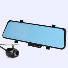 Full HD данных событий цифровой видеорегистратор автомобилей зеркало заднего вида двойной Filmadora видеорегистратор с двумя камерами для Mazda Honda Toyota