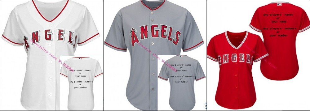 Los Angeles Angels #27 Mike Trout women Cool Base Jersey, Embroidery Logoes, Customized Jerseys accepted(China (Mainland))