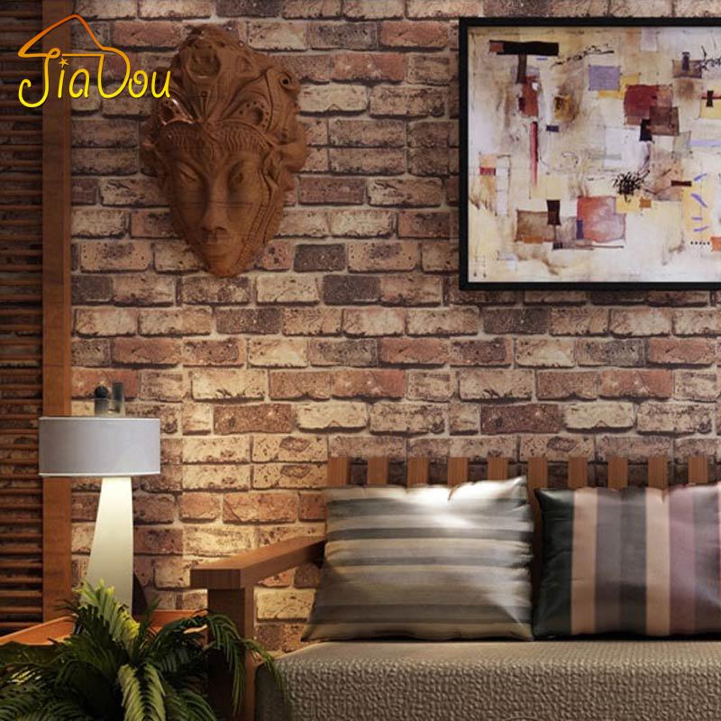 Ziegel Tapete Wohnzimmer : Rustic Brick Wall