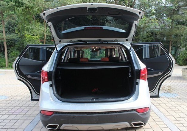 Black! for Hyundai New Santa Fe IX45 2013 Rear Trunk Security Shield Cargo Cover(only for 5 seats)(China (Mainland))