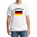 Germany Patriotic Fans Cheer O neck T Shirt European Fitness Germany Flag Cotton White Summer T