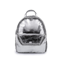 Fashion Trendy Silver Bag Famous Brand 2016 New Designer Solid Color Bag Women Preppy Style Kntting