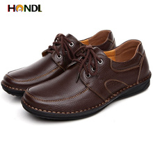 2014 Free Shipping Men top Genuine Leather Oxford Hand Sewing Breathable Classic mens shoes hot Casual Oxhide flats for Father