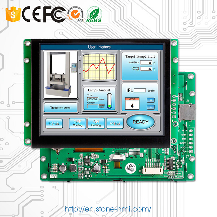 "6.5"" new product high brightness square lcd display RS485/USB/TTL control panel(China (Mainland))"
