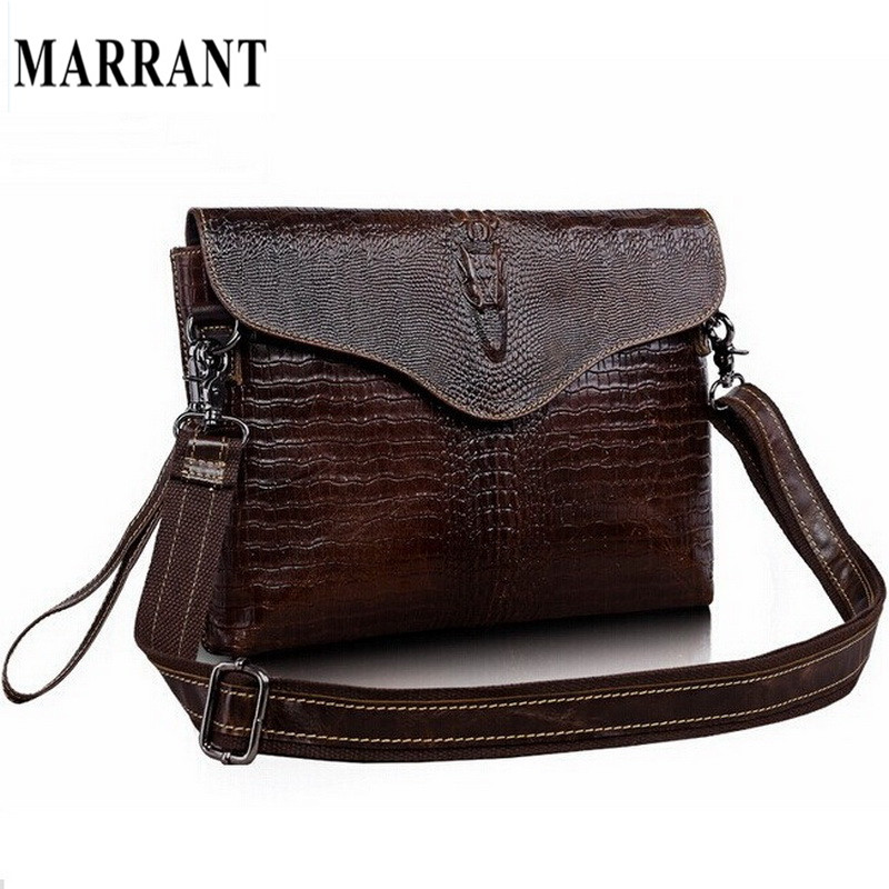 New fashion crocodile leisure men's hand bag shoulder bags Real Genuine leather men bag Day clutch ipad bags men's briefcase(China (Mainland))