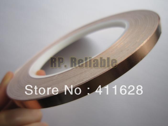 5 Roll 4mm*30M*0.06mm Self-Adhesive Single Conductive Copper Foil Tape for EMI Shielding, Laptop DIY<br><br>Aliexpress