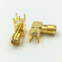 Buy 20Pcs Gold Tone SMA Female Jack 90 Degree Right Angle Solder PCB Panel Mount RF Connector for $12.63 in AliExpress store