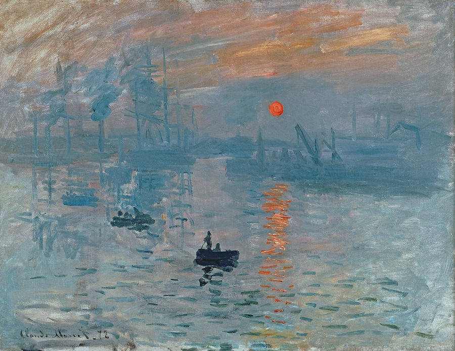 HOT!!!PRINT OIL PAINTING 40*50 IMPRESS OF SUN RISING BY CLAUDE MONET WALL ART FOR HOME DECORATION GIFT FOR CHILDREN(China (Mainland))