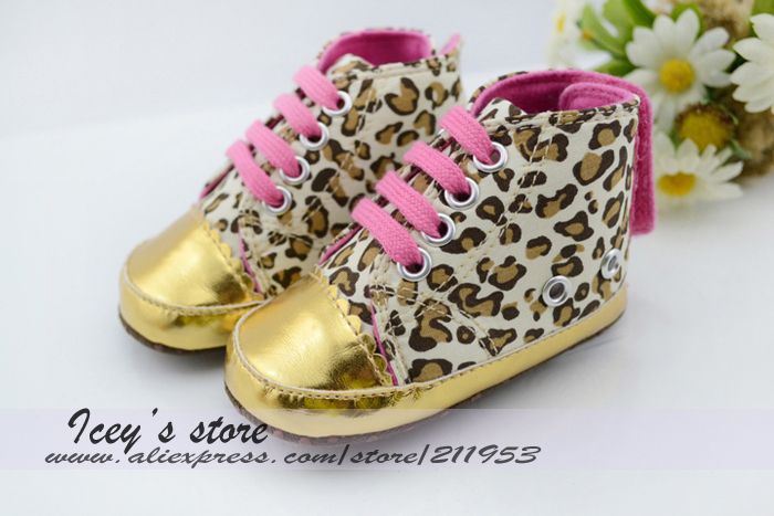 Free shipping 12 Pairs Baby First Walkers Infant Shoes Cotton Sole Canvas Shoes Leopard  Prewalker Fashion Footwear  ZY13052101<br><br>Aliexpress