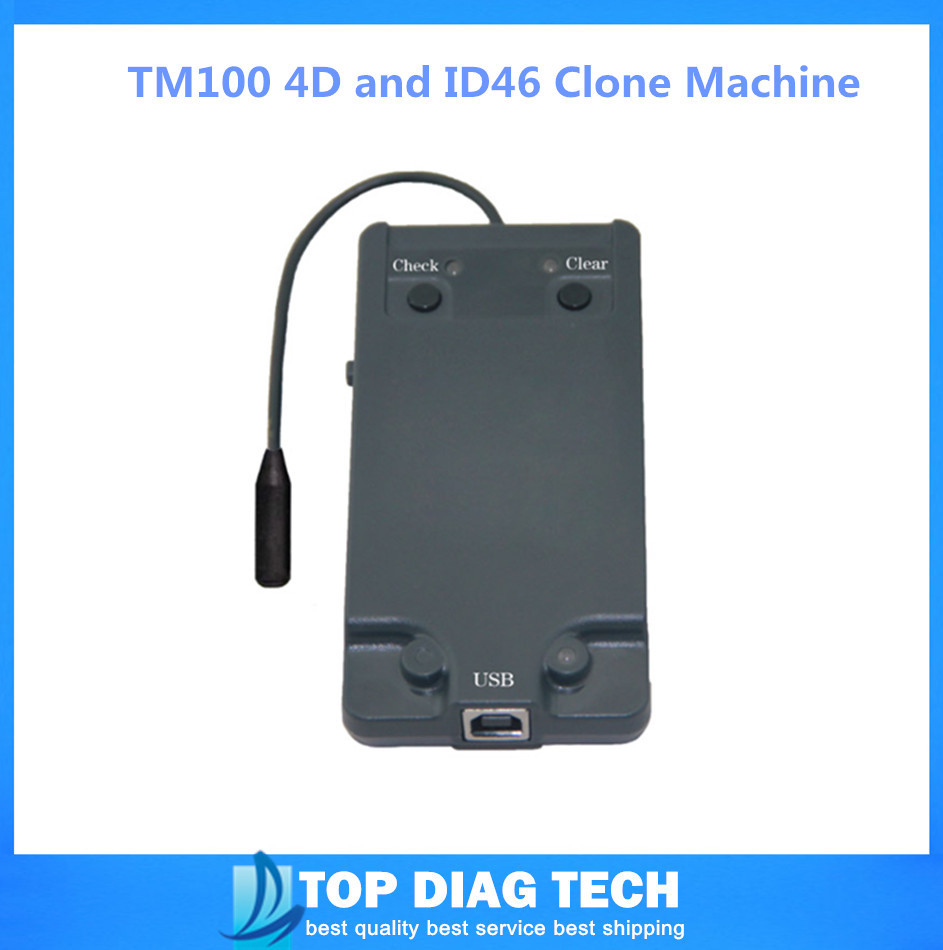 2015 High Quality Latest Version Auto Key Programmer TM100 4D and ID46 Clone Machine(China (Mainland))