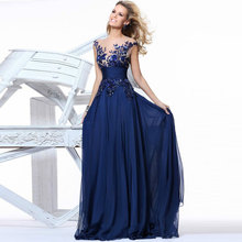 Mother Of The Bride Dress Charming Elegant 2016 new design free shipping Chiffon Appliques Natural evening dresses new arrival(China (Mainland))