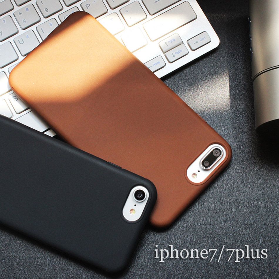 Soft Silica Gel TPU Case Silicone Cover For iPhone 7 iPhone 7 Plus Ultra Thin Micro Matte Mobile Phone Case(China (Mainland))