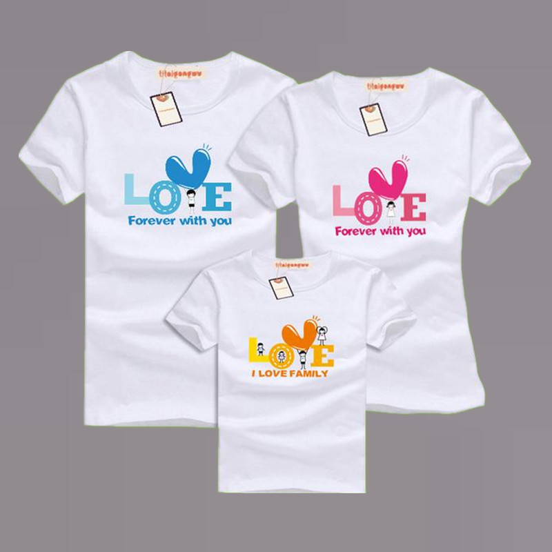 Family matching clothing soft cotton short sleeve t shirts T shirts for dad