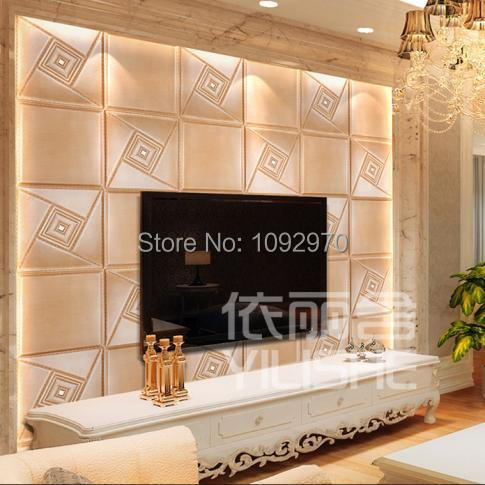 Decorative Tv Wall Panel Fashion 3d Wall Panel Leather