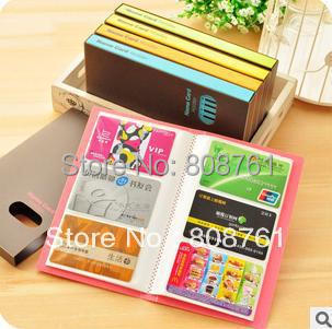 Гаджет  120 cards candy color business card holder name card purse book large capacity Credit Card Bag Case Pouch None Камера и Сумки