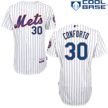 Michael Conforto Jerseys nueva York Mets #30 camisetas de béisbol auténticos bordado cosido onfield inicio Color de calidad superior(China (Mainland))