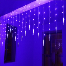 Holiday Lighting 4M 220V Wedding Icicle Colorful Xmas LED Fairy Curtain Lights Garland Home Decoration Christmas Light String