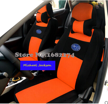 Universal car seat cover subaru forester 2014 BRZ Outback Tribeca heritage xv impreza legacy car accessories car sticker pillows(China (Mainland))