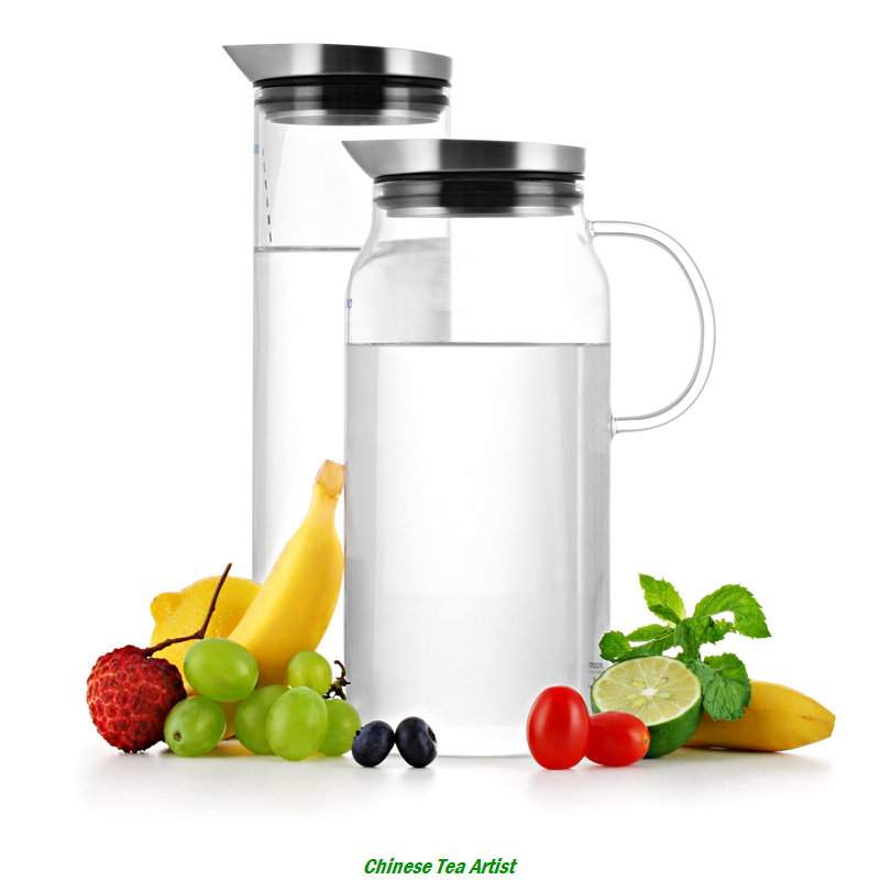 Super Quality Borosilicate Glass Water Jug for Boiling Water and Ice Water 1000ml/1300ml with Food Grade Stainless Steel Lid(China (Mainland))
