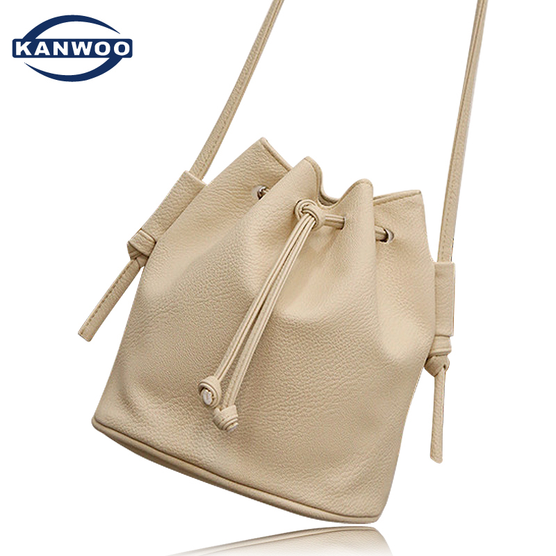 Women Messenger Bags Soft Leather Crossbody Bag For Women Famous Brand Bucket Tassel Casual Shoulder Girls String Mini Bag B127(China (Mainland))