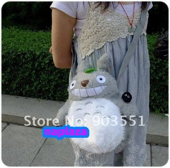 "Free Shipping Cute Anime My Neighbor TOTORO Plush 10"" Shoulder Bag Children Bag"