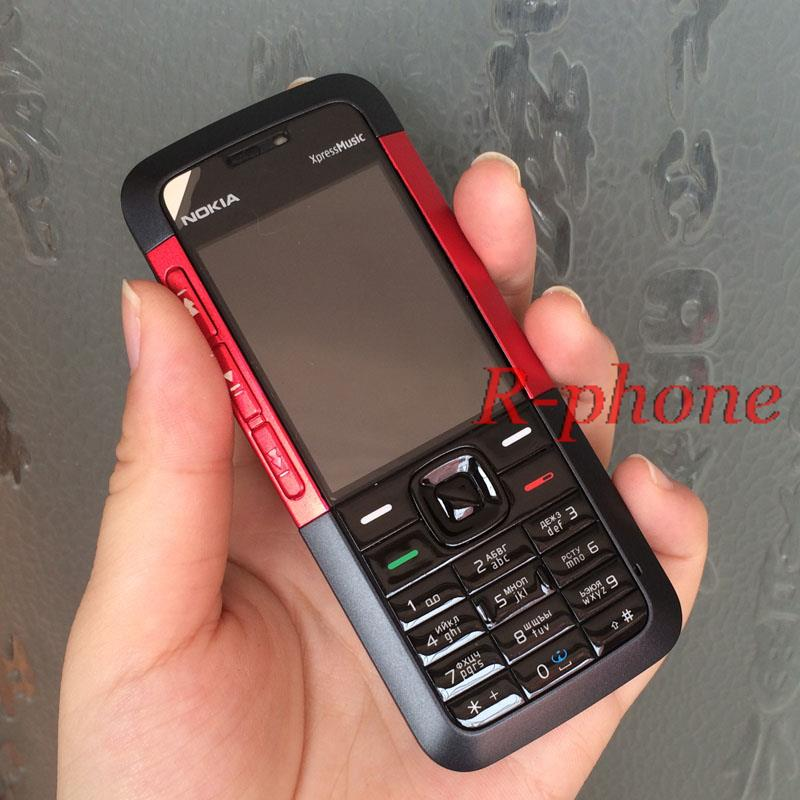 Original Nokia 5310 XpressMusic Mobile Phone Refurbished Unlocked Cellphones English Arabic Russian Keyboard(China (Mainland))