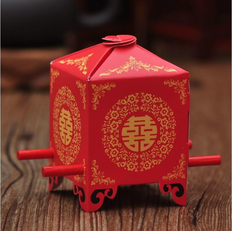 Free shipping 200pcs Bride sedan chair chinese Wedding Favor Boxes gift box candy box(China (Mainland))