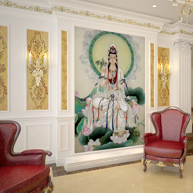 Online get cheap buddha wall murals for Buddha mural art