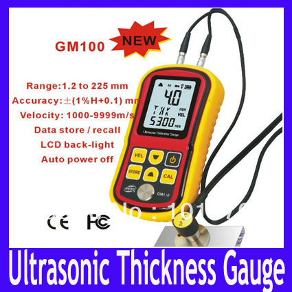 Ultrasonic Thickness Gauge GM100 ultrasonic thickness meter ultrasonic thickness indicator  Range:1.2-225.0mm(Steel) MOQ=1