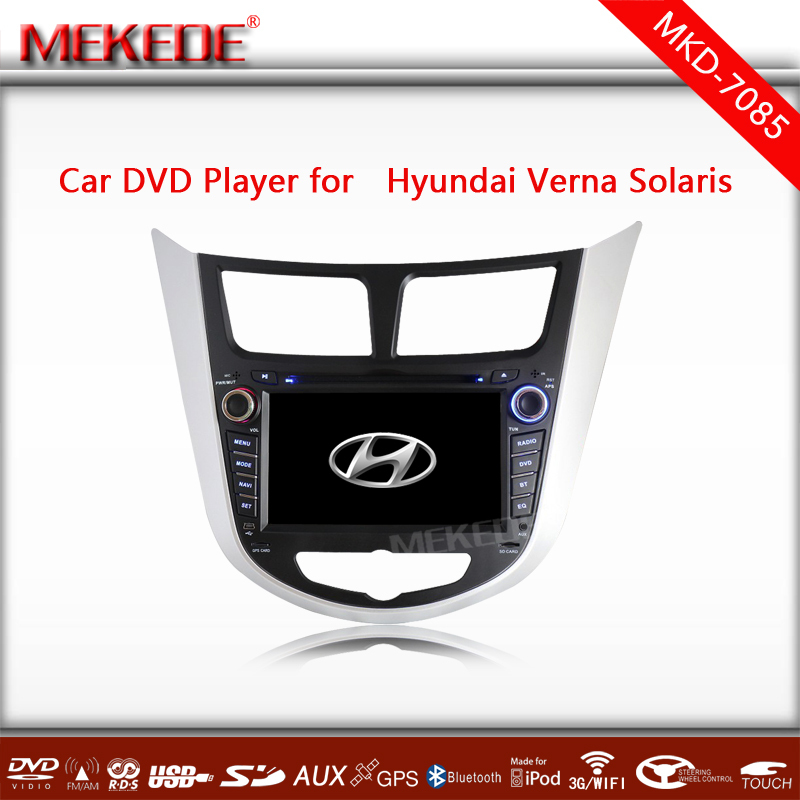 7''touch screen Car GPS Cassette for Hyundai Verna Accent Solaris 2011-2012 Russian Menu free Navitel map Russian manual(China (Mainland))