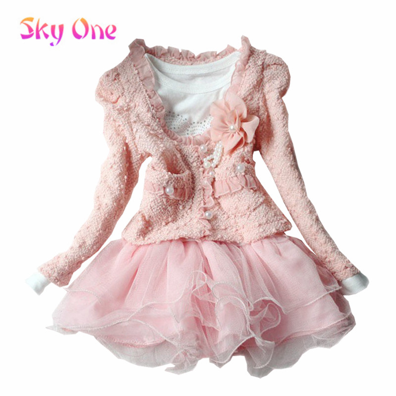 Гаджет  Sky.One new 2014 spring new fashion Girls two-piece girl dress summer dress baby girl clothes girls