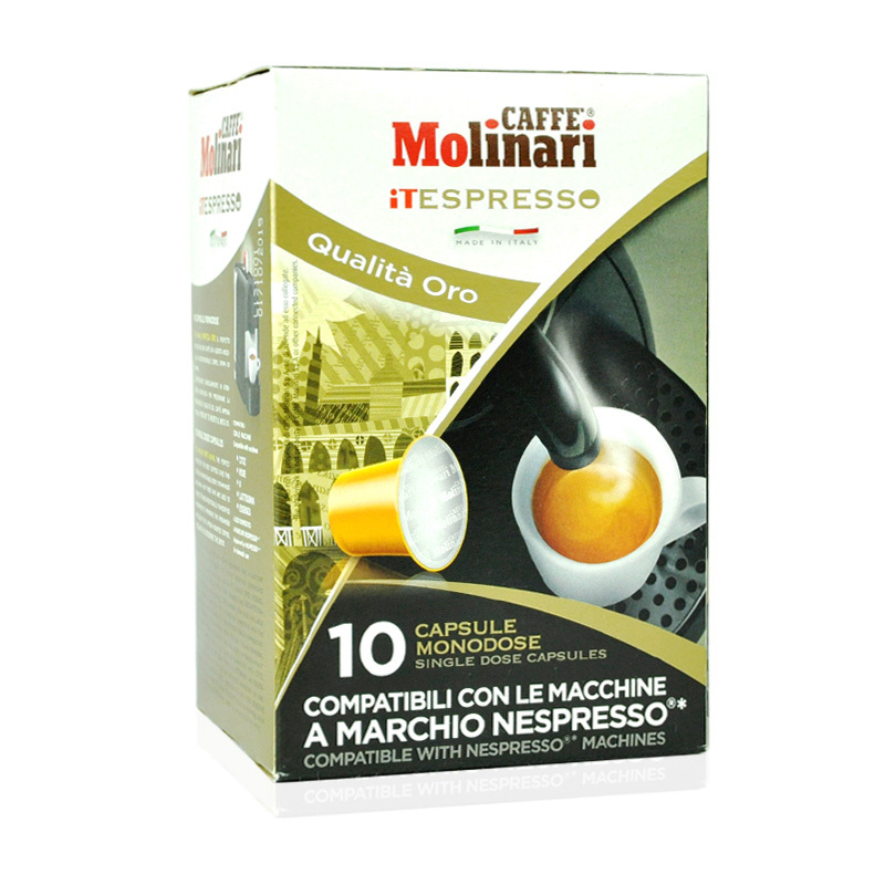 Molinari capsule coffee Imported from Italy 10 capsules free shipping