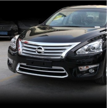 Chrome Front Grille Around cover trim trims For Nissan Teana Altima 2013 2014 2015 high quality chrome stickers trim car styling