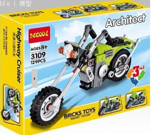 Decool 3109 Architect Creator 3 1 Highway Cruiser Model building block sets Baby Toys Bike Motorcycle brick toys - dina tang's store