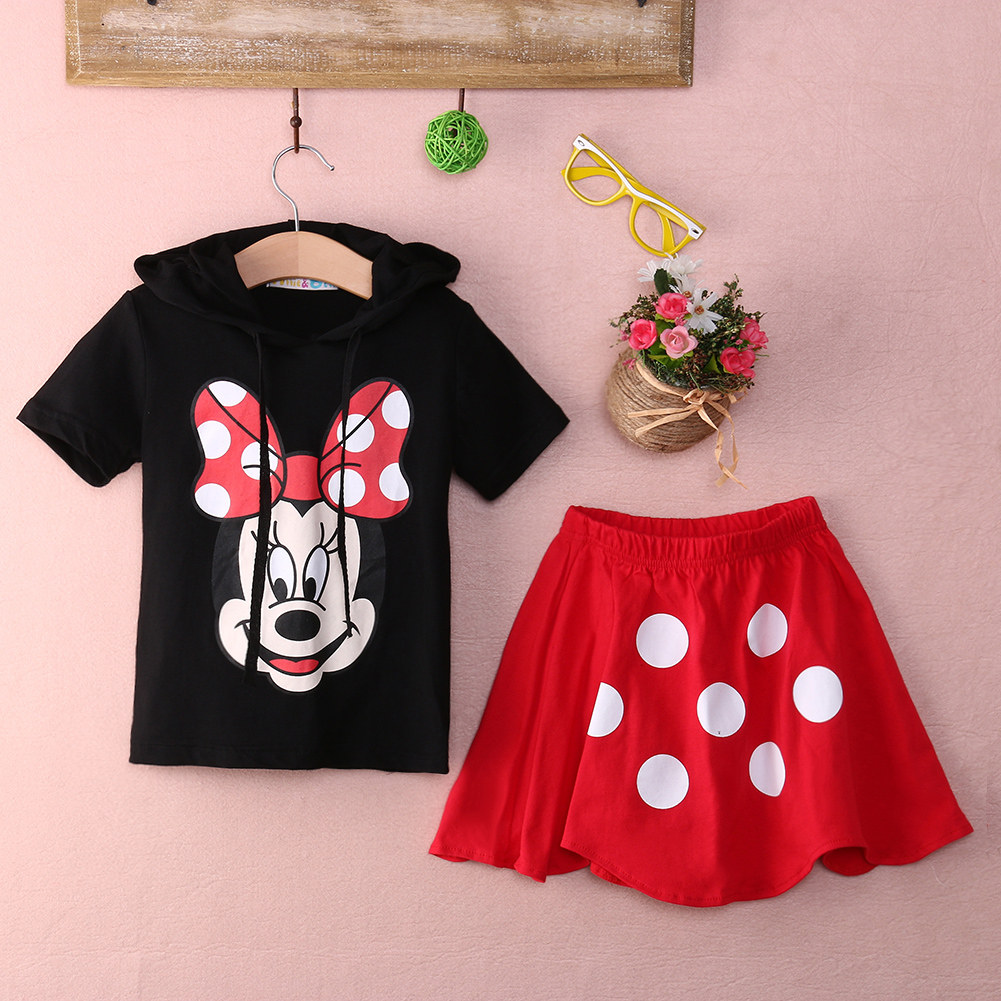 Baby Boy clothing set 2016 Summer Girls Kids Minnie Mouse Clothes Tops+Dress tutu Pants Outfit Set