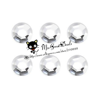 6 Pieces Bling Diamond Patterns Home Button Sticker Compatible with Apple iPhone 4S for iphone 5