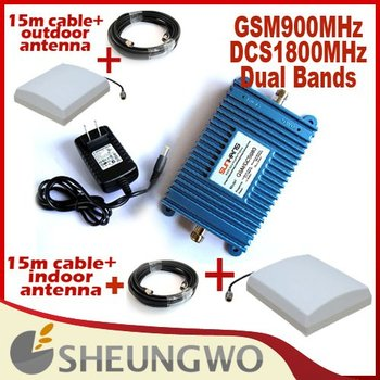 Newst900Mhz+2100Mhz and cabel/antenna dual band GSM+3G,1500M2 suitable,GSM with WCDMA signal booster,GSM repeater,wcdma repeate