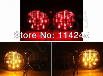 Clear Integrated LED Tail Light Signals For Yamaha YZF R6 2001 2002  motorcycle tail lamp